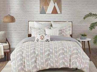 Ink Ivy Suri Cotton Jacquard Comforter Set King Cali King Size