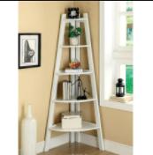 Five Shelf Corner ladder Bookcase