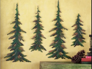 Metal Pine Tree Decor