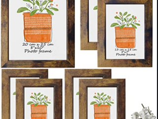 Seven Wooden Picture Frames
