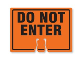 Do Not Enter Cone Sign