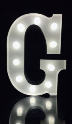 lED Marquee letter G