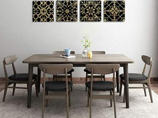 Designer Black and Gold Wall Art Panels
