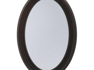 Pegasus 20 inch Recessed or Surface Mount Mirrored Medicine Cabinet with Oval Deco Framed Door in Oil Rubbed