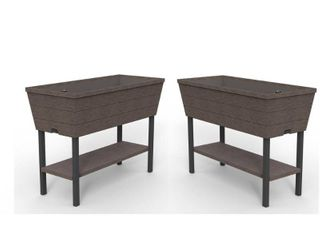 Keter Urban Bloomer 32 3 in  l x 30 7 in  H Brown Resin Raised Garden Bed  2 Pack