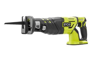 RYOBI 18 Volt ONE  Cordless Brushless Reciprocating Saw  Tool Only  with No Wood Cutting Blade