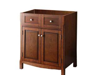 Pegasus 30 in  W x 34 1 4 in  H x 21 in  D Vanity Cabinet Only in Dark Cherry