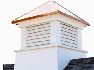 Good Directions Cornwall 18 in x 22  in White Vinyl Cupola with Copper Roof  Retail 325 79