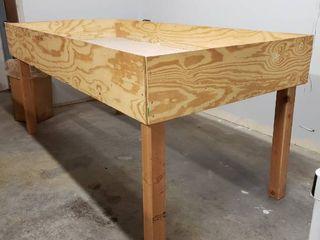 Wooden Storage Table 4 Dx43 5 Tx97 W