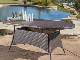 Noble House McNeil Wicker Outdoor Dining Table