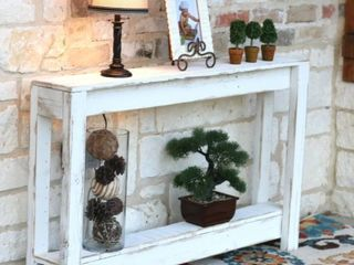 Rustic Entry Way Table White