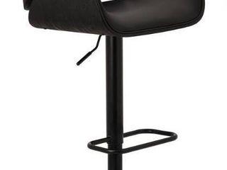 Glitzhome Mid century Modern Height adjustable Swivel Bar Stool  Retail 289 99