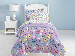 Dream Factory Sweet Butterfly Twin Comforter Set