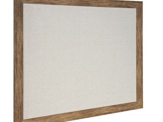 45inx25in linen Pin Board with Wood Frame