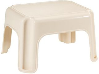 Rubbermaid 15 5  X 12 5  X 9 25  Bisque Step Stool
