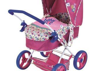 Baby Alive Pink Flower Doll Stroller