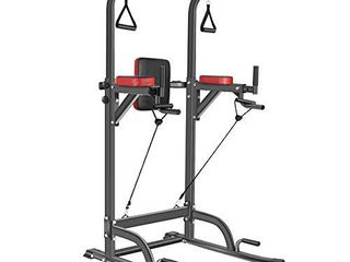 Bronze Times Power Tower Workout Dip Station Pull Up Bar Dip Stands Adjustable Height for Home Gym  400lBS