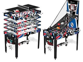 12 in 1 Multi Game Table Set for Adults  Kids  Families