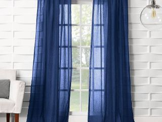 No  918 Vida Semi Sheer Rod Pocket Single Curtain Panel  Set Of 2