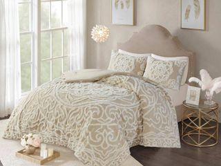 Madison Park Virginia Tufted Cotton Chenille Medallion Full Comforter Set  Retail 116 20