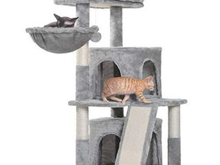 Hey bro 41 34 inches Cat Tree with Scratching Board  2 luxury Condos