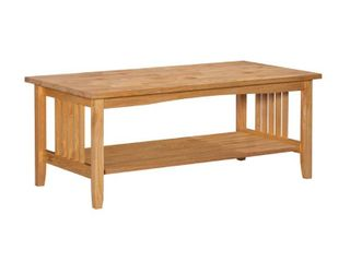 Mission Natural Coffee Table   linon