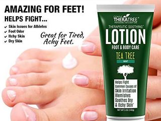Tea Tree Oil lotion with Neem Oil for Foot   Body   Helps Soothe Skin Irritation and Fight Body Odor   by Oleavine TheraTree