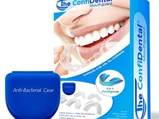 The ConfiDental   Pack of 5 Moldable Mouth Guard for Teeth Grinding Clenching Bruxism  Sport Athletic  Whitening Tray  Including 3 Regular and 2 Heavy Duty Guard  3  lll  Regular 2  II  Heavy Duty