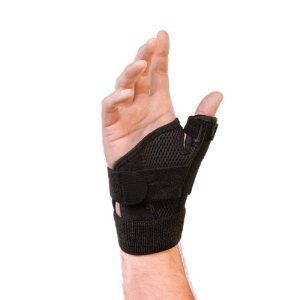Mueller Reversible Thumb Stabilizer  Black  One Size Fits Most   Stabilizing Thumb Brace