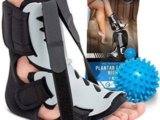 Plantar Fasciitis Night Splint   Adjustable Foot Drop Support for Plantar Fascia  Arch Pain  Achilles Tendonitis   Fits Women and Men  large Extra large