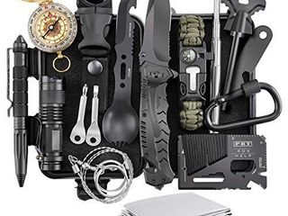 Survival Kit  Verifygear 17 in 1 Professional Survival Gear Tool Emergency Tactical First Aid Equipment Supplies Kits for Men Women Families Hiking Camping Adventures