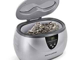 Magnasonic Professional Ultrasonic Jewelry Cleaner with Digital Timer for Eyeglasses  Rings  Coins  MGUC500