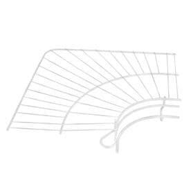 Rubbermaid Freeslide Corner x 12 in White Wire Shelf