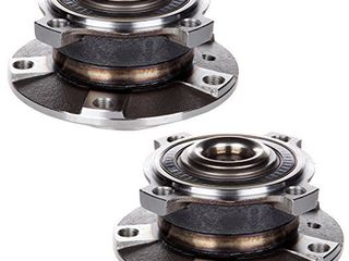 ECCPP Replacement for Pair of 2 New Complete Front Wheel Hub Bearing Assembly 5 lugs w ABS for 1997 2005 BMW 513172 x2