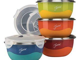 Fiesta Prep 8 Piece Microwave Safe Bowl   lid Set