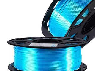 Silk PlA Turquoise Peacock Blue Shiny 3D Printer Filament  1 75mm Diameter 1kg Spool 2 2lbs Widely Support FDM 3D Printers  with Extra One Bag Filament Sample Gift DO3D