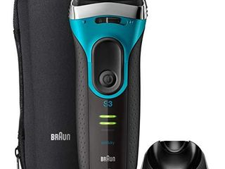 Braun Electric Razor for Men  Series 3 ProSkin 3080s Electric Shaver  Rechargeable  Wet   Dry Foil Shaver plus Charging Stand   Travel Pouch