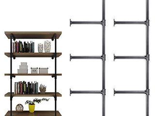 3 4 Inches Malleable Cast Iron Pipe 2 PCS 5 Tier  Vintage Industrial Wall Mount Bookshelf Shelving Unit  DIY Open Bookshelf  Shelf Shelves  Home Improvement Kitchen Shelves