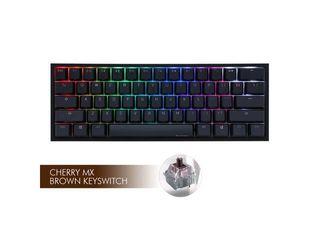 Ducky One 2 Mini Rgb Ds Pbt Brown Cherry Mx Mechanical Keyboard   Black white