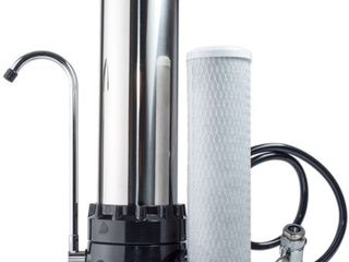 The Stainless Steel Countertop Water Purifier Filter  10 Micron Carbon Block