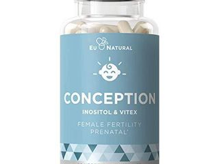 Conception Fertility Prenatal Vitamins Regulate Your Cycle  Balance Hormones  Aid Ovulation Myo Inositol  Vitex  Folate Folic Acid Pills 60 Vegetarian Soft Capsules