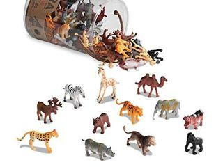 Terra by Batat Wild Animals Assorted Miniature Wild Animal Toys For Kids 3   60 Pc