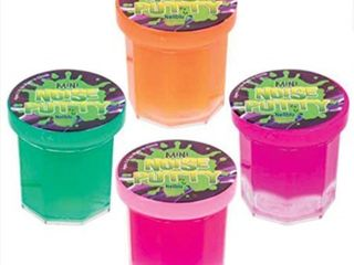 party favors for kids   48 mega party favor pack of slime   mini noise putty in assorted neon colors   bulk toys  stocking stuffers  halloween  and birthday party favors   bulk pack of 4 dozen