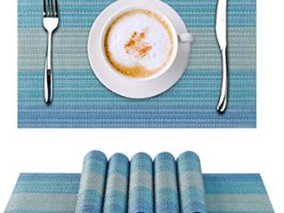 Blue  Silver   Purple Table Place Mats  Set Of 6