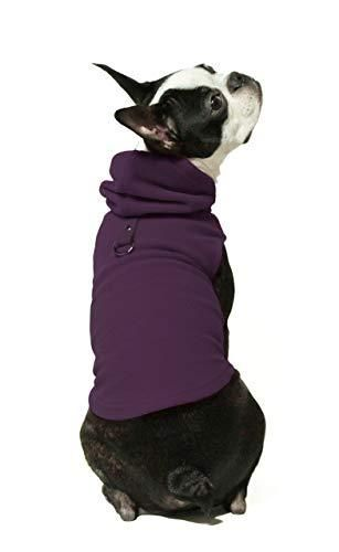 Gooby Dog Hoodie Fleece Vest   Plum  large   Pull Over Dog Jacket with leash Ring   Winter Small Dog Sweater   Warm Dog Clothes for Small Dogs Girl or Boy Dog Vest for Indoor and Outdoor Use