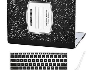 MacBook Pro 13 inch Case Cover A1502 A1425 Plastic laptop Hard Shell Cover Sleeve Matte Rubberized  2012 2013 2014 2015 Release  with Silicone Keyboad Cover and Dust Brush Notebook Pattern Black
