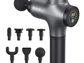 Massage Gun Deep Tissue Percussion Muscle Massager for Pain Relief  Super Quiet Portable Neck Back Body Relaxation Electric Drill Sport Massager Brushless Motor with 7 Attachment 5 Speeds Mebak 3