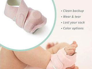 Owlet Accessory Fabric Sock for Smart Sock 2 Baby Monitor  Sensor and Base Station Not Included  Set of 3  Sizes 1 3  Pink