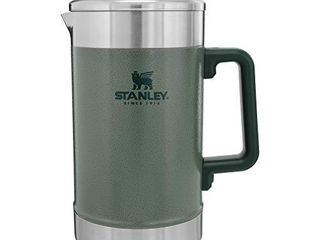 Stanley French Press 48oz with Double Vacuum Insulation  Stainless Steel Wide Mouth Coffee Press  large Capacity  Ergonomic Handle  Dishwasher Safe