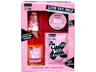 HAllU love Thy Self Complete Pink Carpet Treatment Bath Set By Peyton